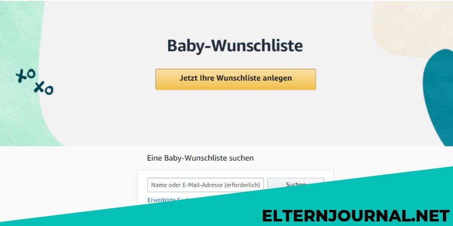 Baby-Wunschliste bei Amazon erstellen!